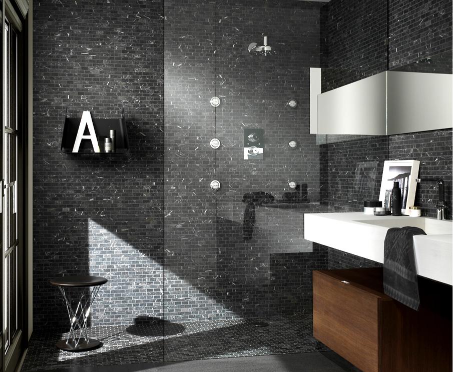 Bagni In Marmo Nero : Bagni in marmo nero nero e bianco paolo bussi bagni montecchi